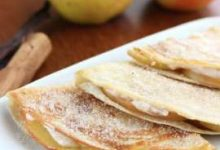 Photo of Quesadillas dulces de manzana y queso crema. Receta